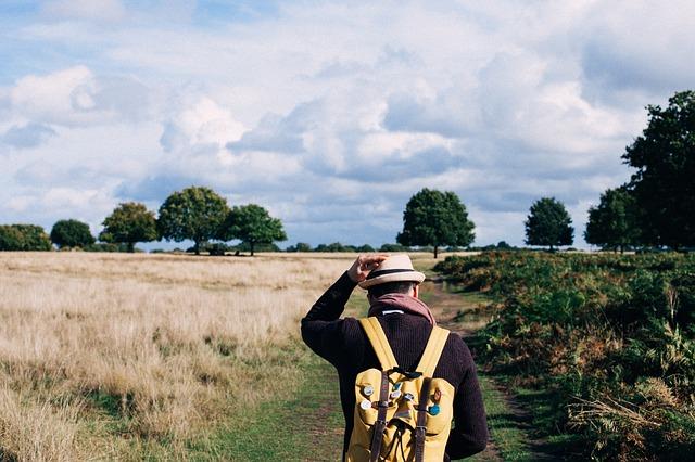 man with bag walking